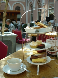 Afternoon tea at the Wallace Restaurant in the Wallace Collection