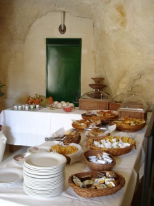 Italian breakfast in Matera