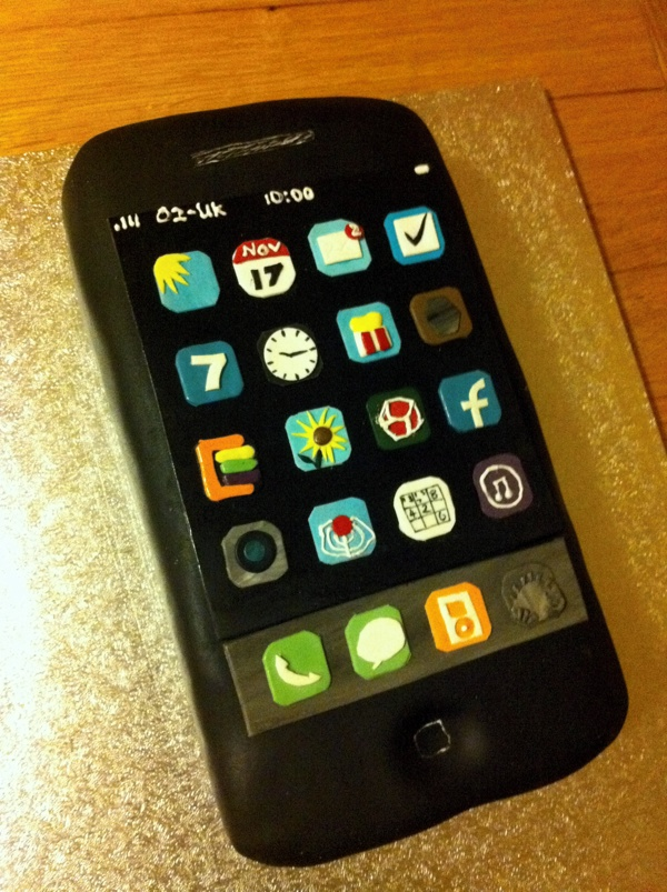 Iphone S Baked In A Cake