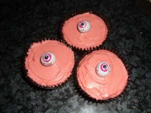Hummingbird bakery chocolate cupcake with pink frosting