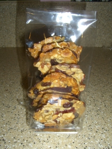 Milk and dark chocolate Florentines