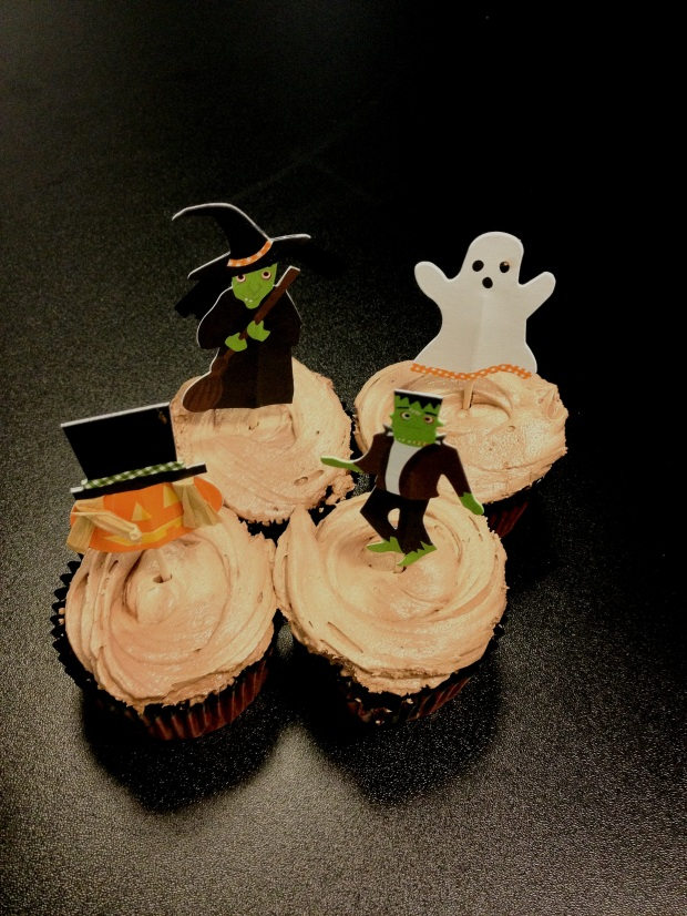 Chocolate cupcakes with chocolate buttercream - Halloween cupcakes
