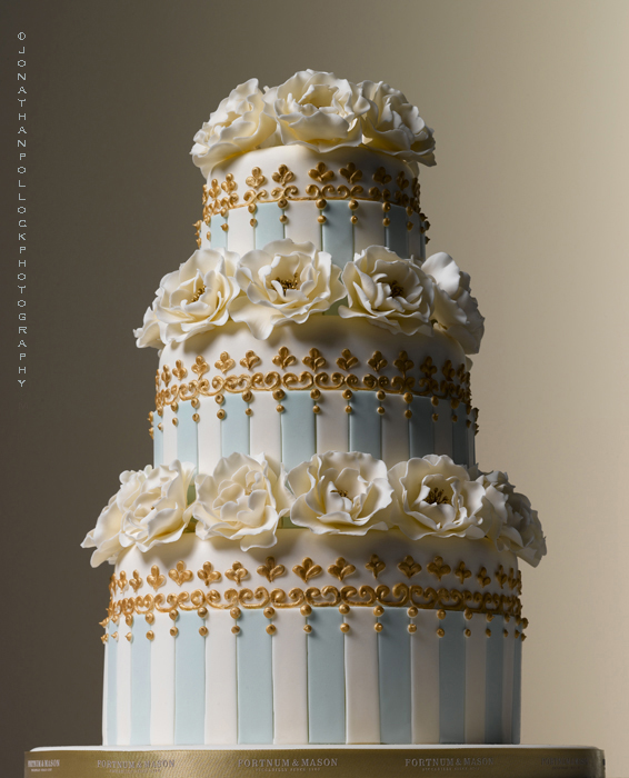 Wedding cake exclusively for Fortnum and Mason by Peggy Porshen, photographed by Jonathan Pollock