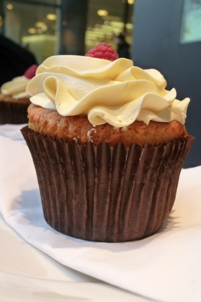 Close up of cupcake at Beas of Bloomsbury