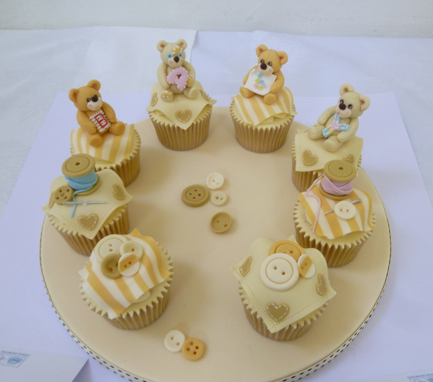 Squires Baking exhibition competition - teddy bear cupcakes