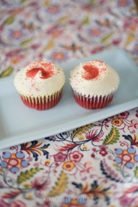 red velvet cupcakes photographed by Kimothy Joyeates
