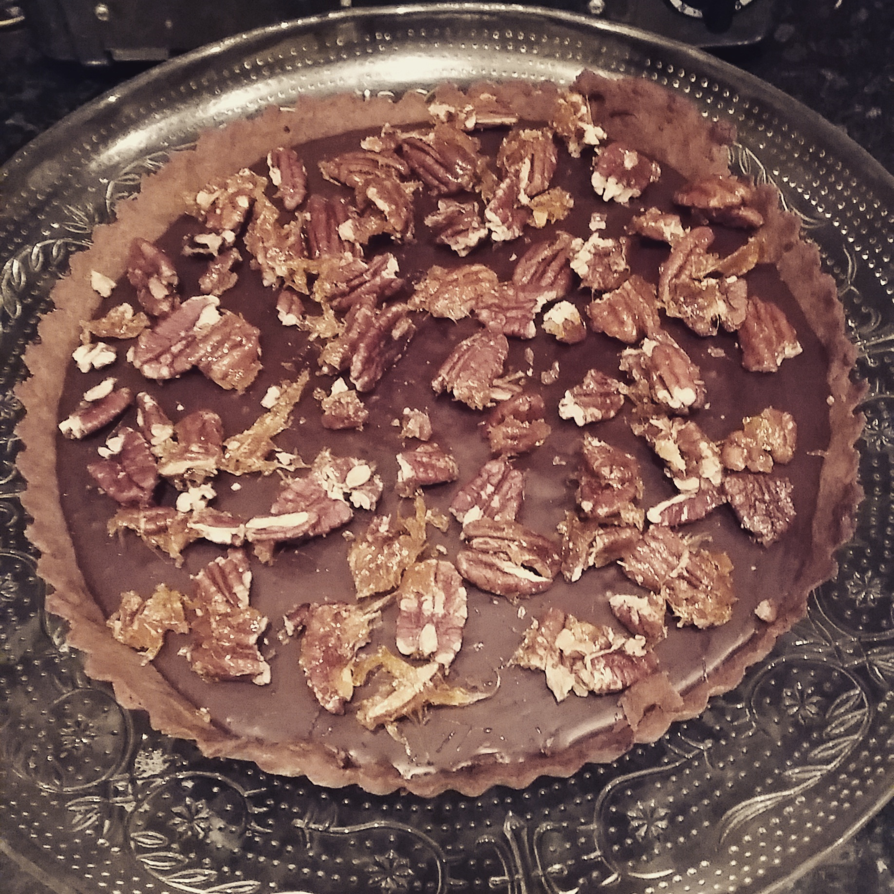 Paul A Young's Sea-Salted Chocolate and Pecan Tart Recipe Review